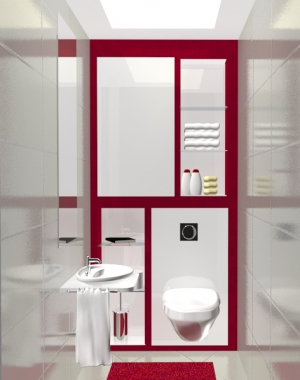 3D проект тоалетна